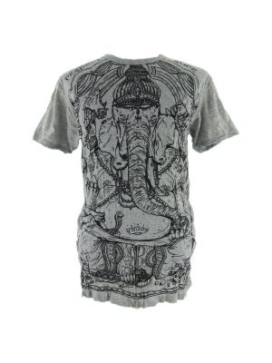 Men's t-shirt Sure Angry Ganesh Grey