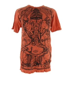 T-shirt Angry Ganesh Orange
