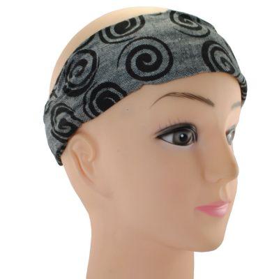 Headband Gulung Hitam