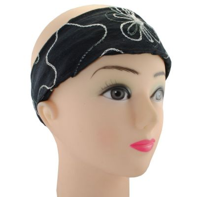 Headband Tampal Hitam