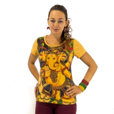 Women's t-shirt Ganapati Yellow