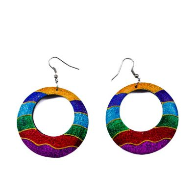 Earrings Colour waves