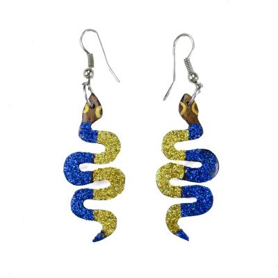 Earrings Little disco snakes