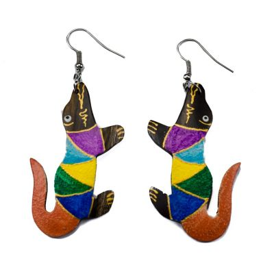 Earrings Crocodiles in pyjamas