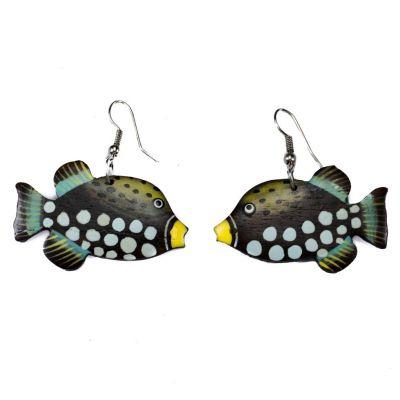 Earrings Harlequin Triggerfish