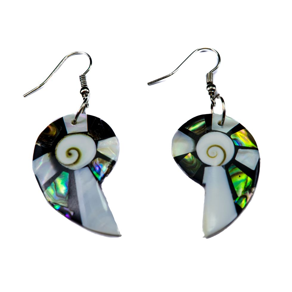 Shell Earrings Elegant Gastropods