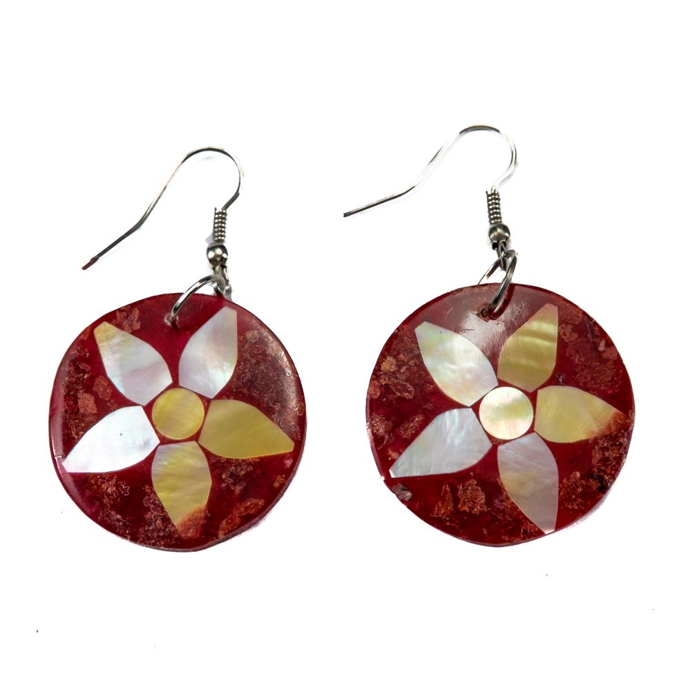 Shell earrings Coral petal