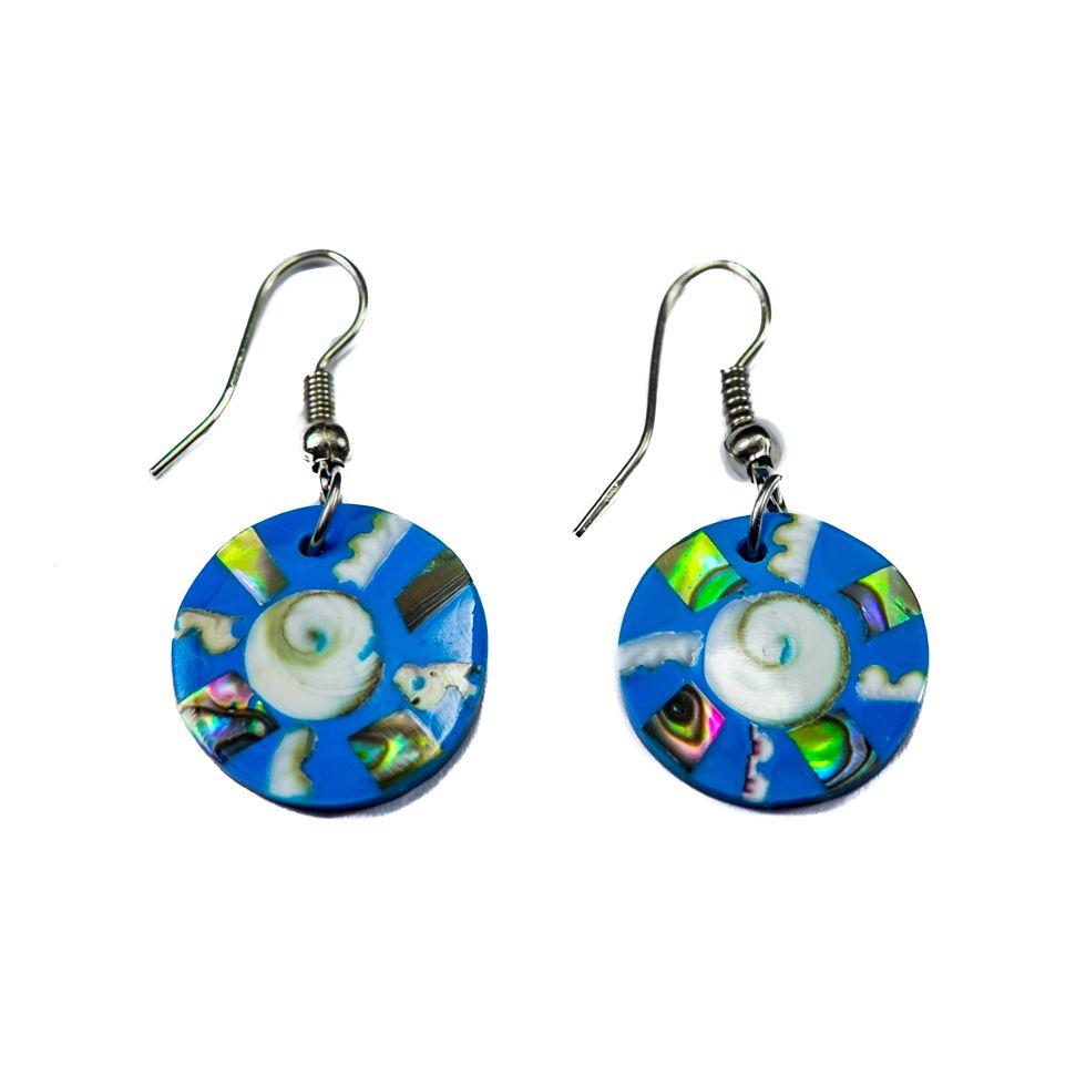 Shell earrings Blue eyes