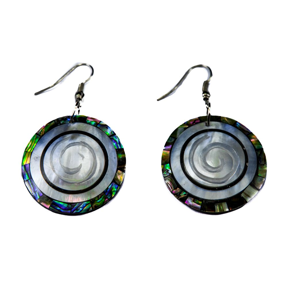 Shell earrings Sea vortex