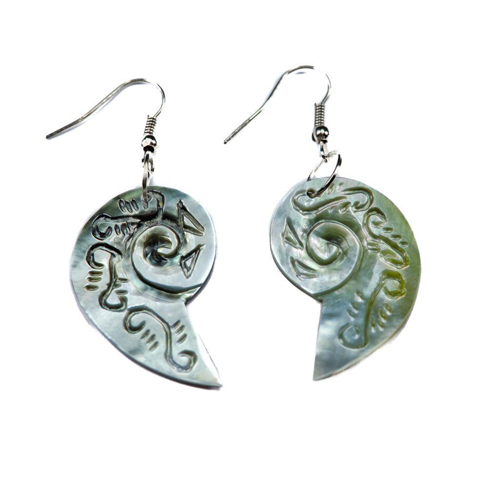 Shell Earrings Ornamental Gastropods