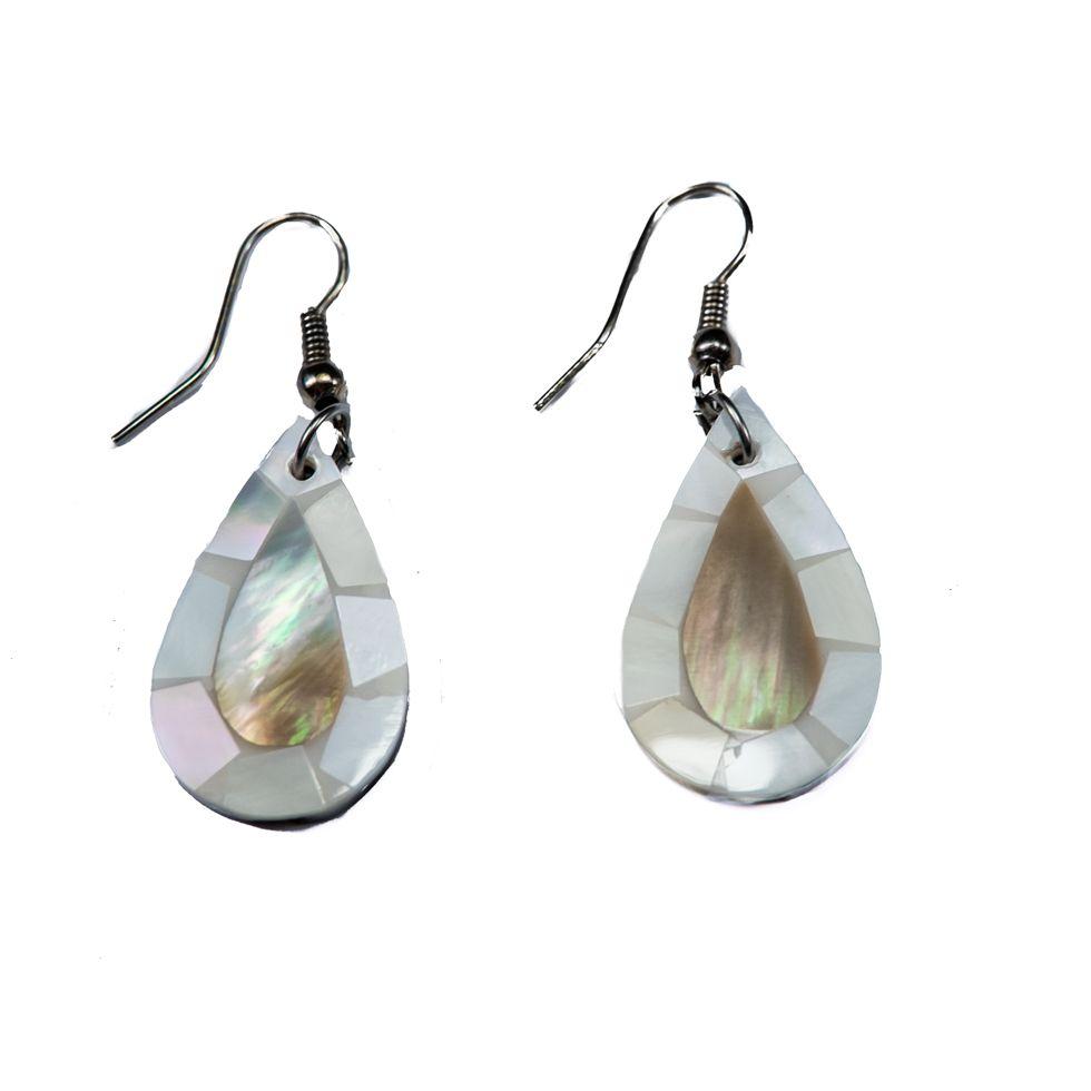 Shell earrings Mermaid's tears