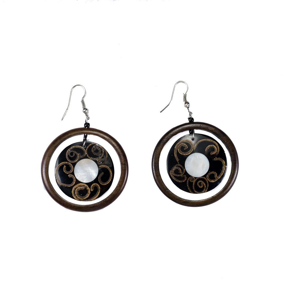 Shell earrings Snail party