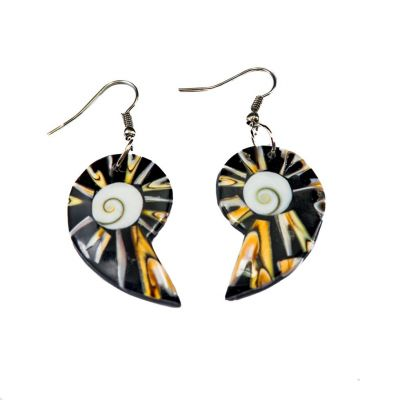 Earrings Tiger Gastropods