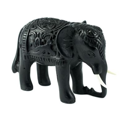 Resin statuette Elephant - decorated