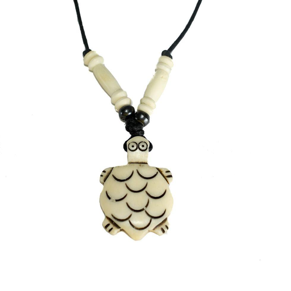 Bone pendant White tortoise