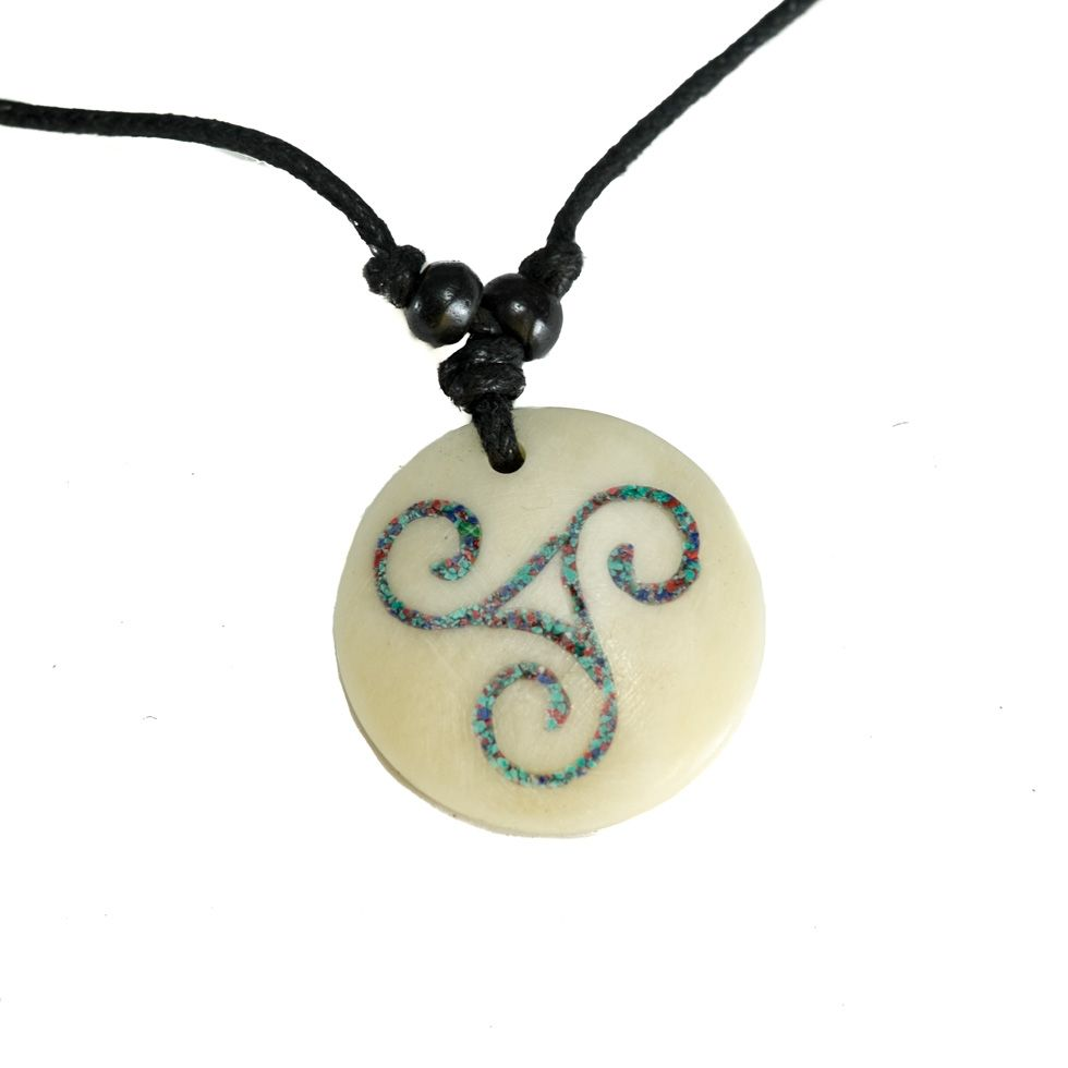 Bone Pendant Celtic spiral - simple