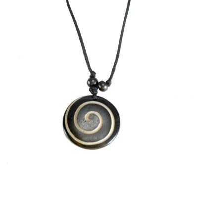 Pendant Spiral - black, simple
