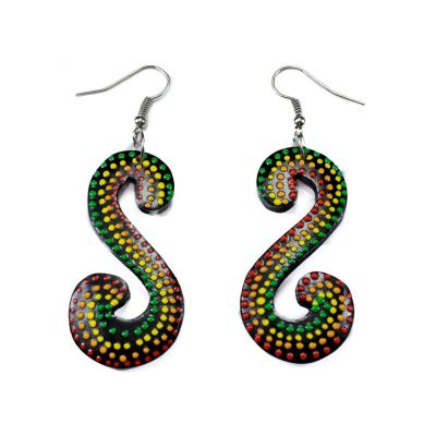 Earrings Rasta Serpentine