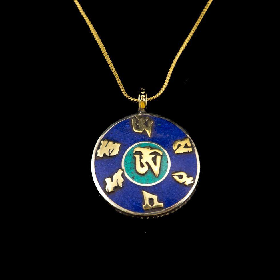 Brass pendant Mantra - Dzogchen