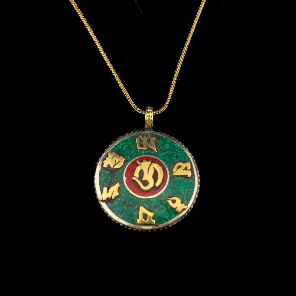 Brass pendant Mantra - Om