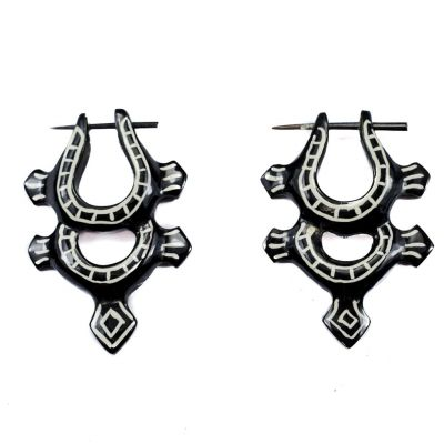 Earrings Ethno tortoise - double
