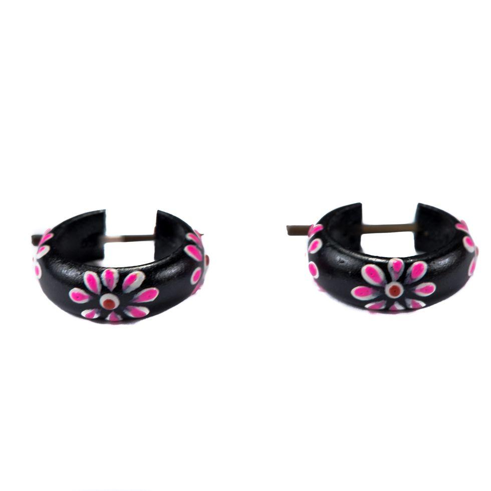 Earrings Flower ring - pink Indonesia