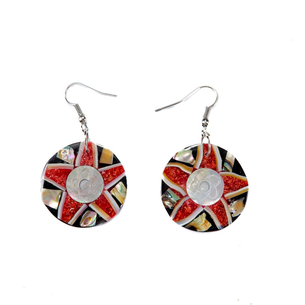 Shell earrings Flower of the Coral Reef 2