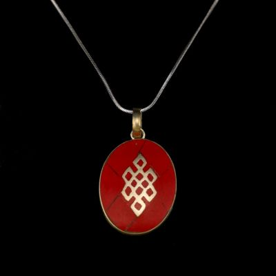Pendant Endless knot - red