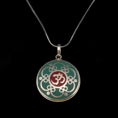 German silver pendant Sacred syllable | separate pendant, with a chain - circumference 45 cm, with a chain - circumference 55 cm