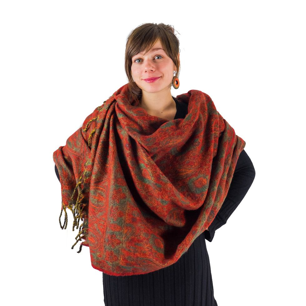 Acrylic scarf / plaid Adrika Autumn