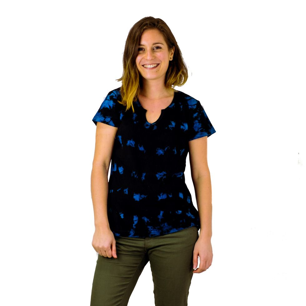 Women's t-shirt with short sleeves Benita Blue