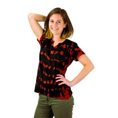 Women's t-shirt with short sleeves Benita Red