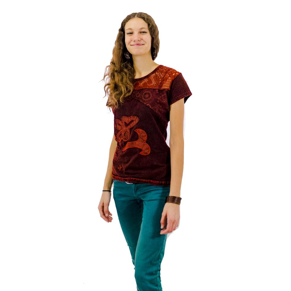 Women's t-shirt with short sleeves Daya Mawar