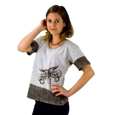 Women's t-shirt with short sleeves Sudha Kelabu