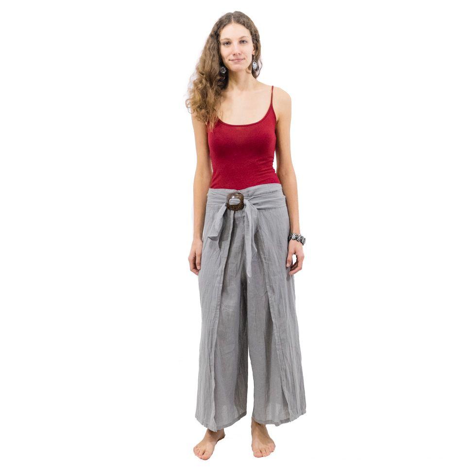 Trousers with a coconut buckle Chantana Kelabu