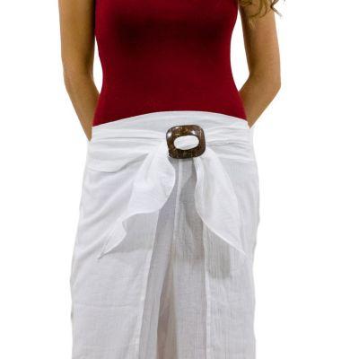 Trousers with a coconut buckle Chantana Putih