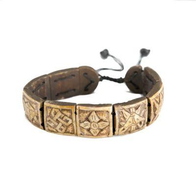 Bracelet Ashtamangala - square, 3D