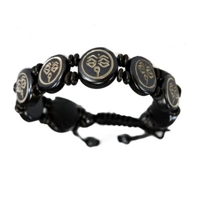 Bracelet Buddha's eyes - black