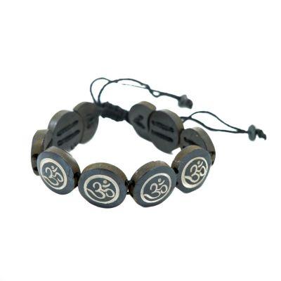 Bracelet Om - black, round