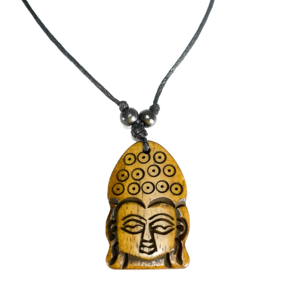 Bone pendant Buddha - simple