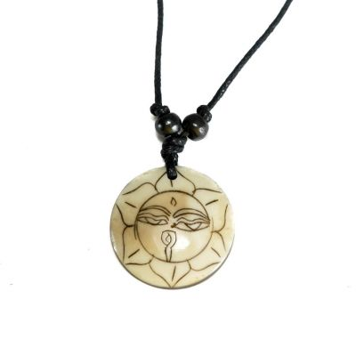 Pendant Buddha's eyes in lotus - simple