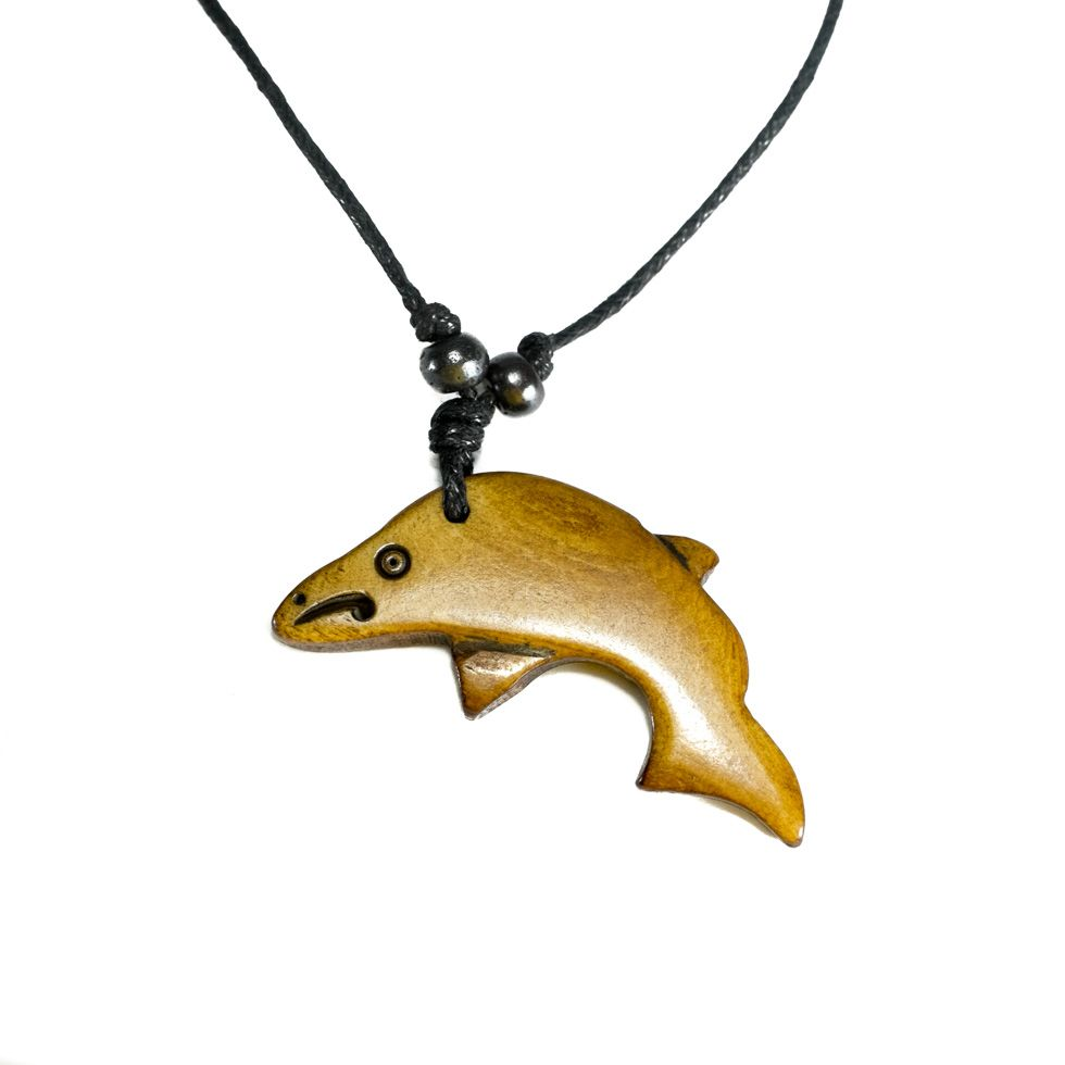 Bone Pendant Dolphin - simple