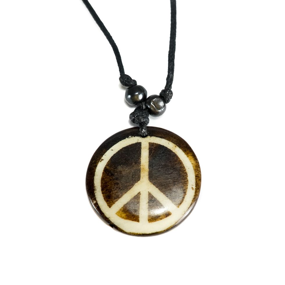 Bone pendant Peace - simple