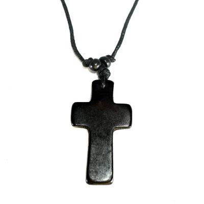Pendant Cross - black, simple