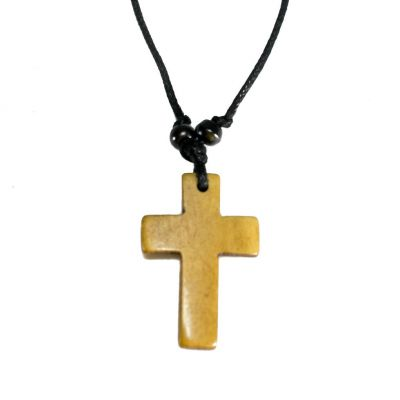 Pendant Cross - brown, simple
