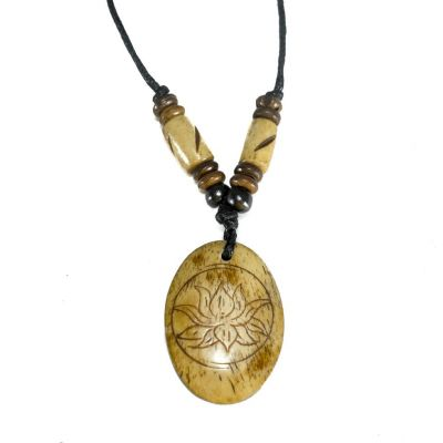 Pendant Lotus flower in oval
