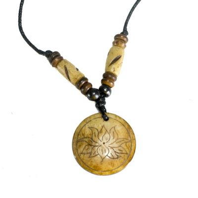 Pendant Lotus flower in a circle