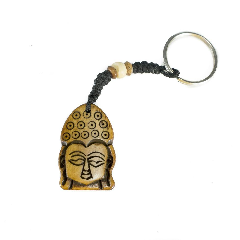 Bone key chain Buddha