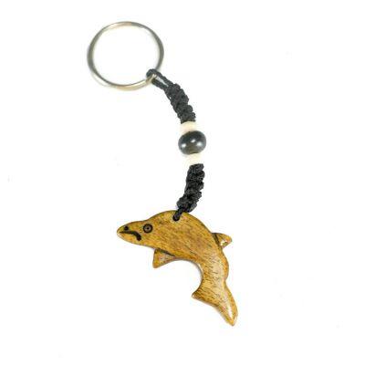 Bone key chain Dolphin