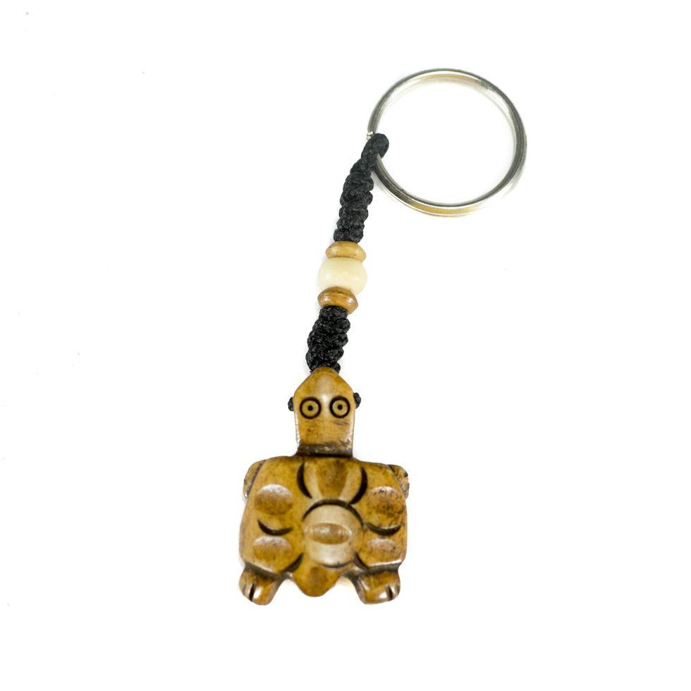 Bone key chain Brown Tortoise